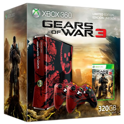Xbox 360 Slim 320 GB Gears of War Limited Edition + Gears of War