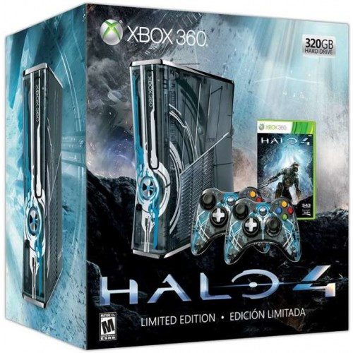 Xbox 360 Slim 320 GB Halo 4 Limited Edition + Halo 4 + 1 db kontroller