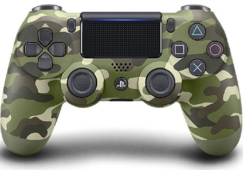 Dualshock 4 V2 Wireless Controller Green Camouflage