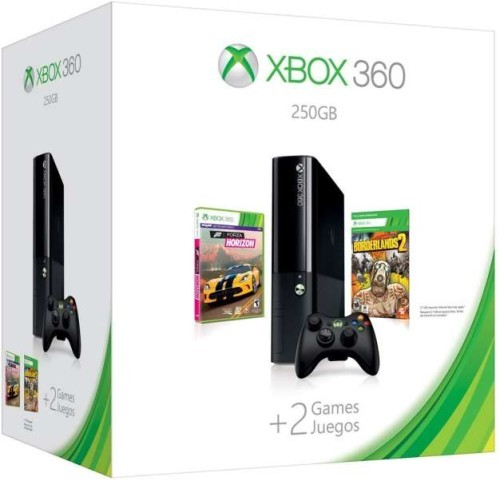 Xbox 360 E-széria 250 GB + Forza Horizon + Borderlands 2