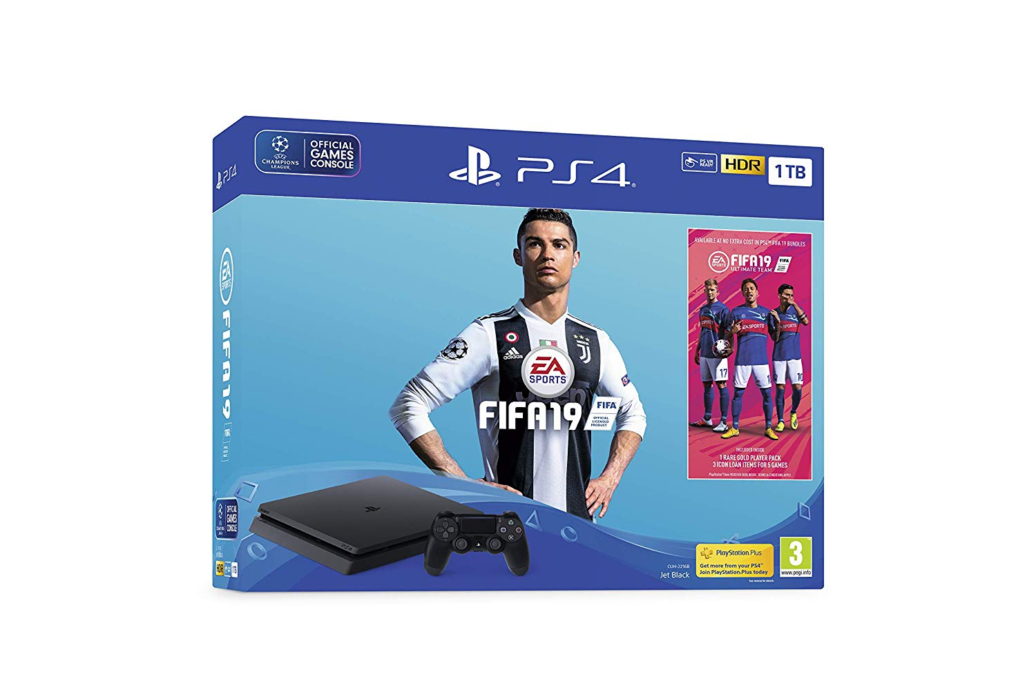 PlayStation 4 Slim 1TB + FIFA 19