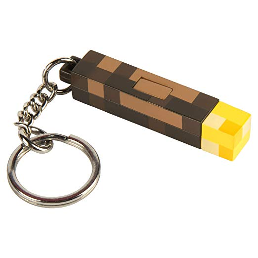 Minecraft 3D Light-Up Torch Kulcstartó