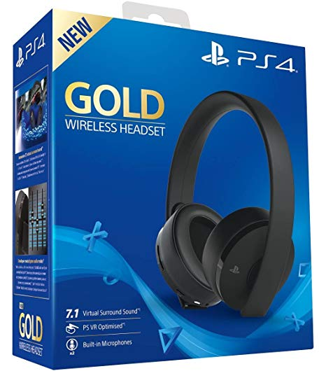 PlayStation Gold Wireless Headset 7.1 - Fekete