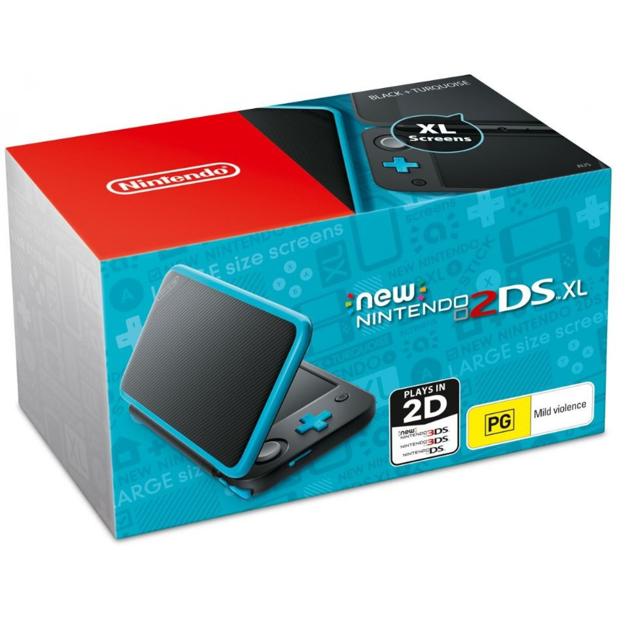 New Nintendo 2DS XL Black + Turquoise