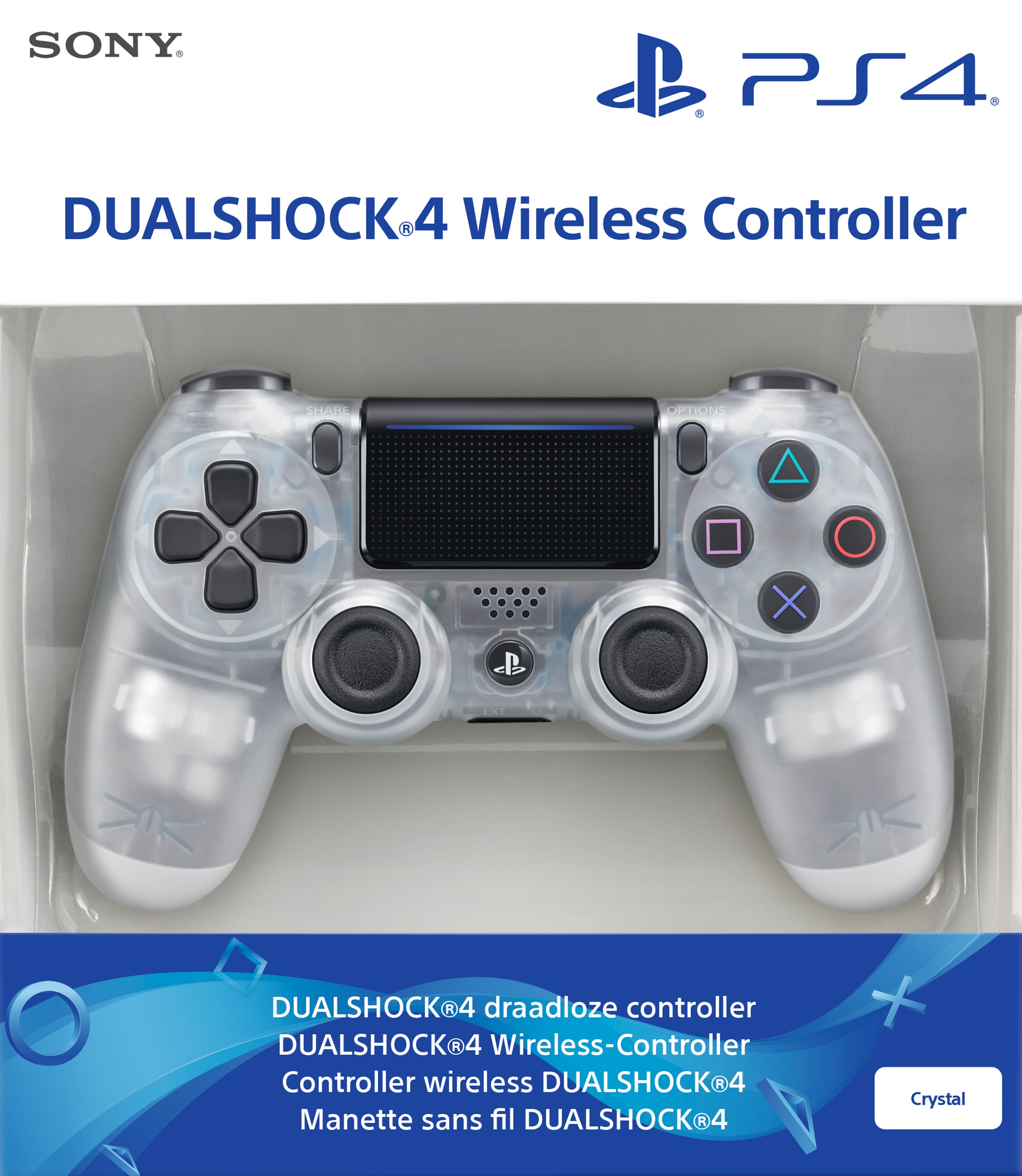 Playstation 4 Dualshock 4 Wireless Controller Crystal