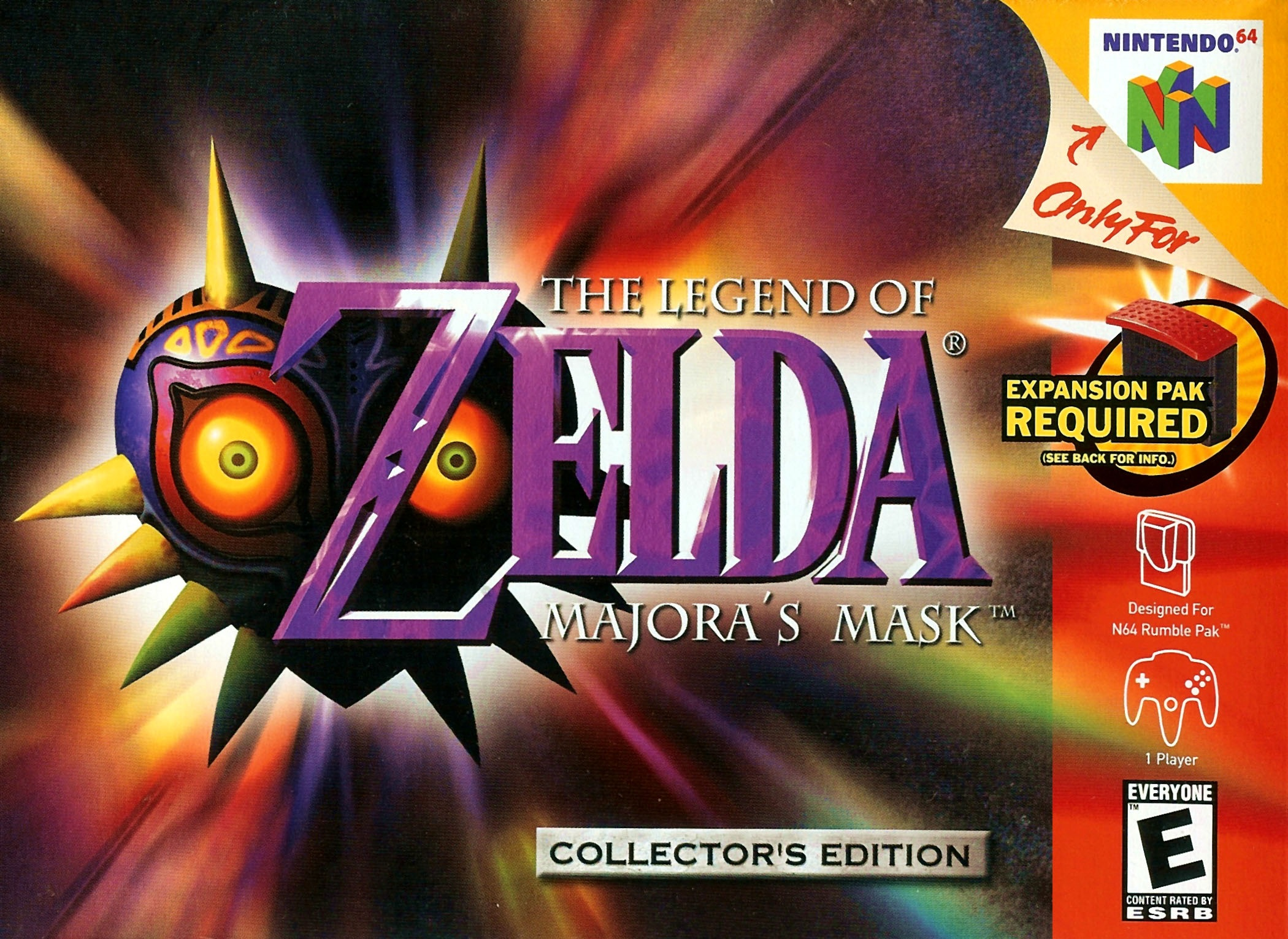 The Legend of Zelda Majoras Mask (Csak a kazetta)