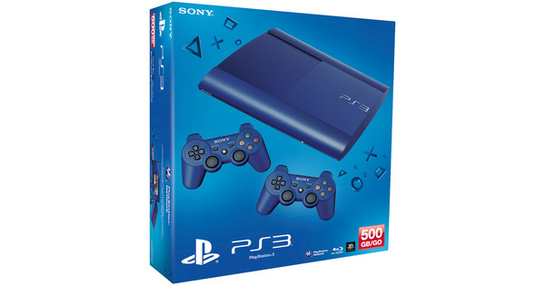 PlayStation 3 Limited Edition Azurite Blue 500GB 2db kontrollerrel