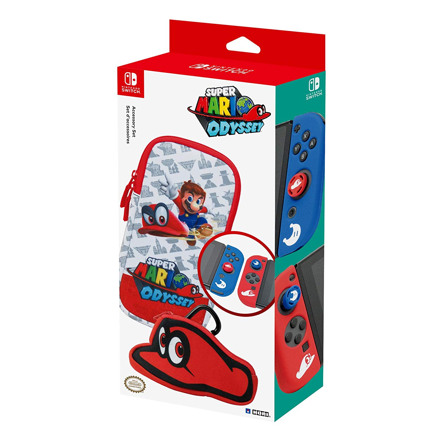 Hori Super Mario Odyssey Accessory Set for Nintendo Switch