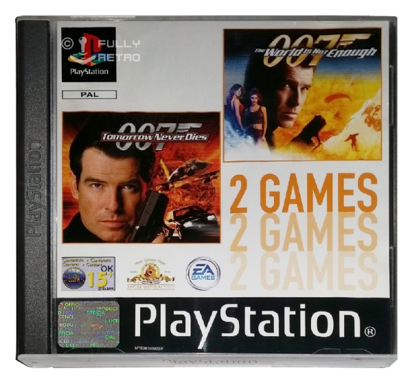 007 Tomorrow Never Dies + 007 The World is Not Enough - PlayStation 1 Játékok