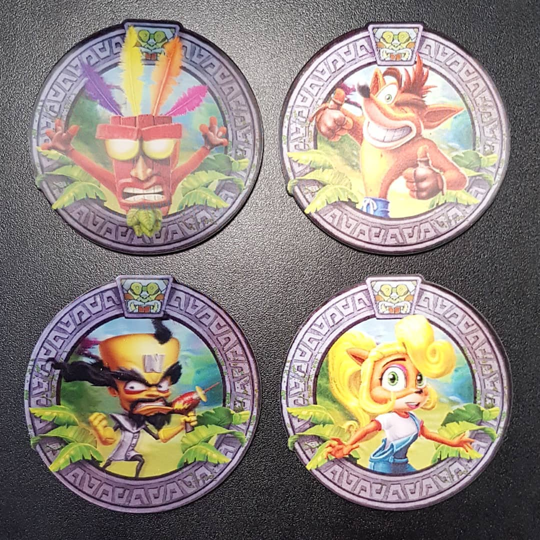 Crash Bandicoot 3D Coasters