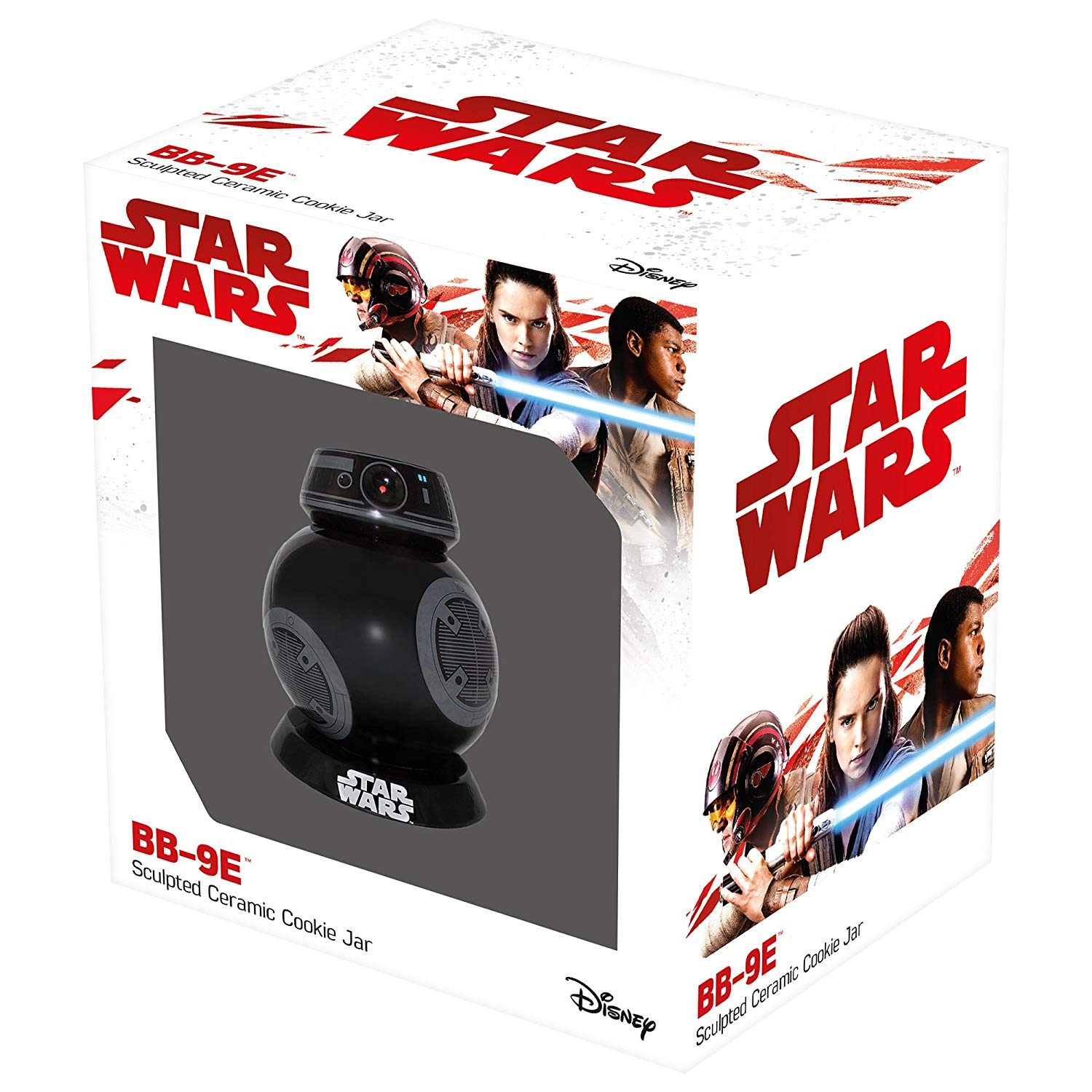 Ceramic Cookie Jar Star Wars E8 BB 9E with Sounds