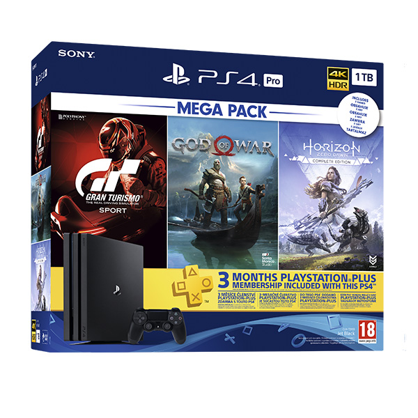 PlayStation 4 Pro 1TB Mega Pack (CUH-7116B)