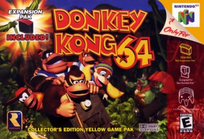 Donkey Kong 64 Collectors Edition Yellow Game Pak (NTSC, Expansion pack nélkül)