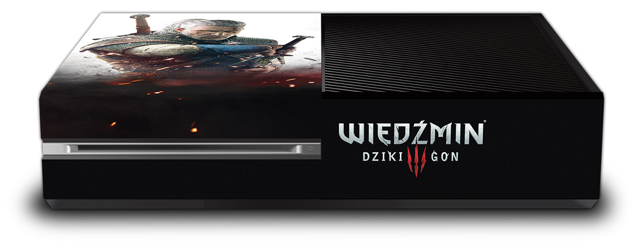The Witcher 3 védőfólia Xbox One Fat konzolokhoz (lengyel)