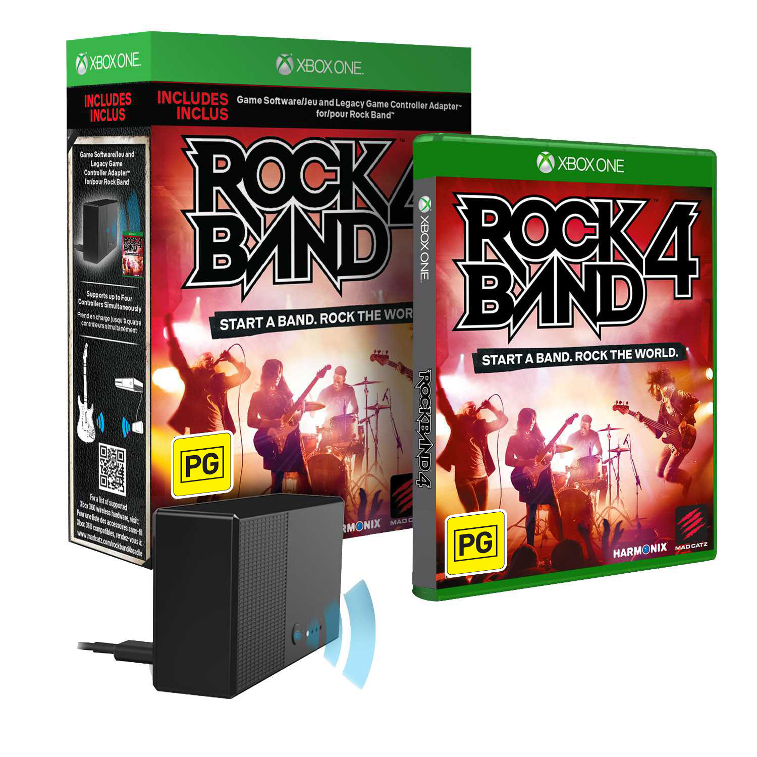 Rock Band 4 + Legacy Game Controller Adapter