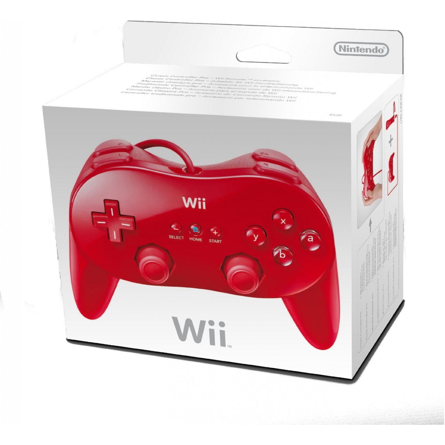 Nintendo Wii Classic Controller Red