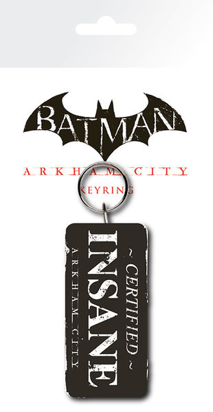 Batman Arkham City Certified Insane Keyring