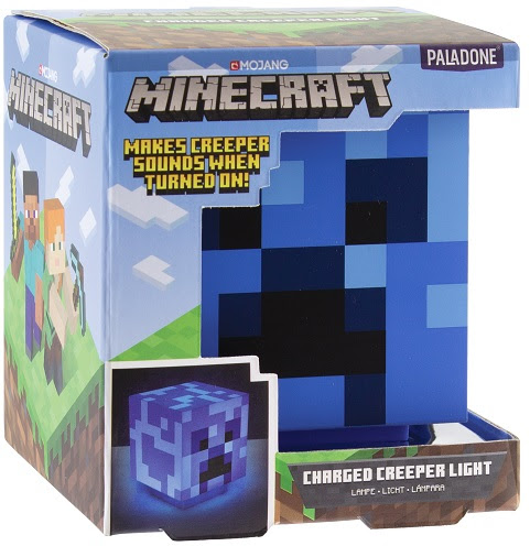 Minecraft Charged Creeper lámpa hanggal