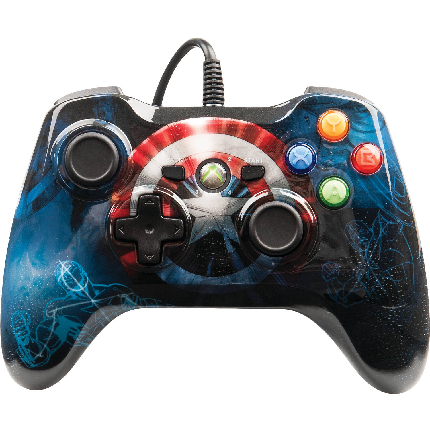 PowerA Marvel Captain America Xbox 360 Wired Controller