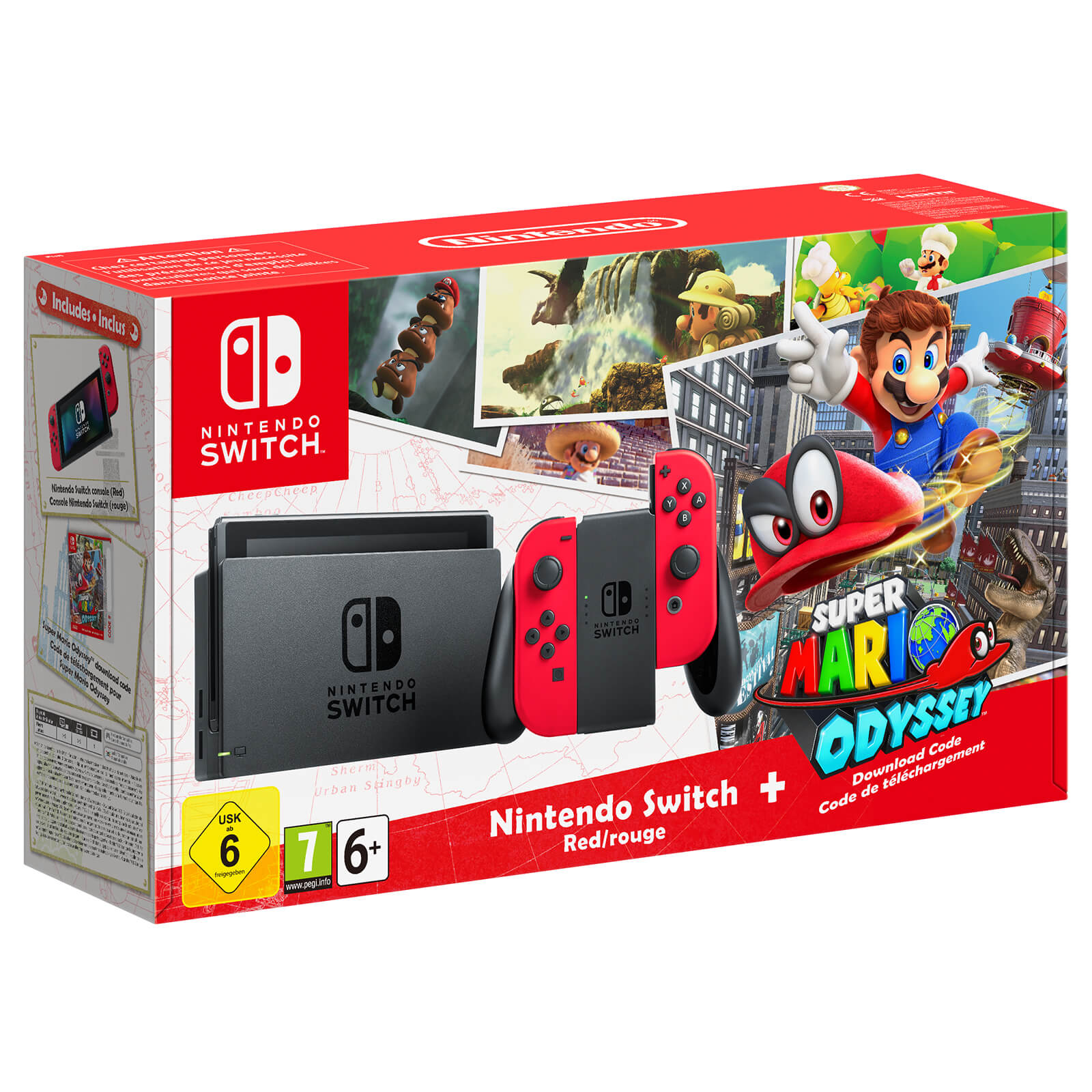 Nintendo Switch Red Joy-Con Limited Super Mario Odyssey Edition